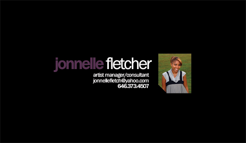 Jonnelle fletcher look different blog she is originally from brooklyn new york a city where she has developed passion for hip hop here is the first draft for her business cards colourmoves